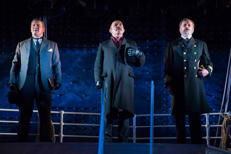 Siôn Lloyd as Andrews, David Bardsley as Ismay and Philip Rham as Captain Smith